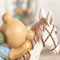 resin cartoon funny animal decoration movable small horse statue with bear