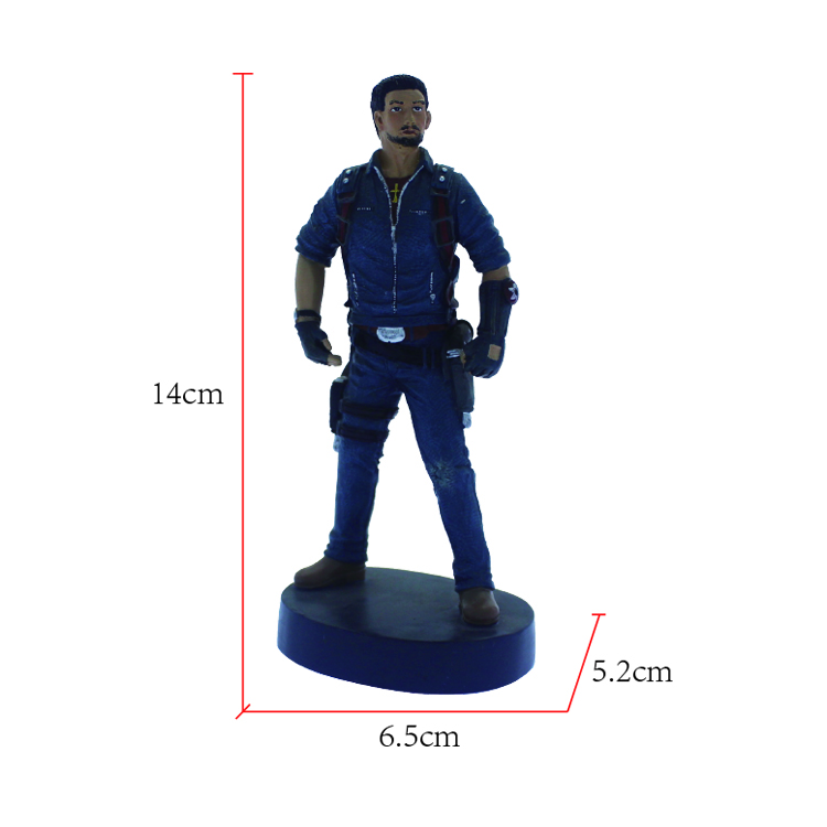 factory customized super man polyresin statue