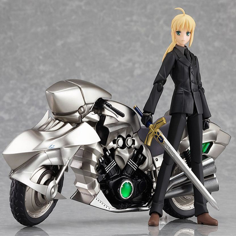 PVC 4inch japanese hot toys fate stay night saber motorcycle figure