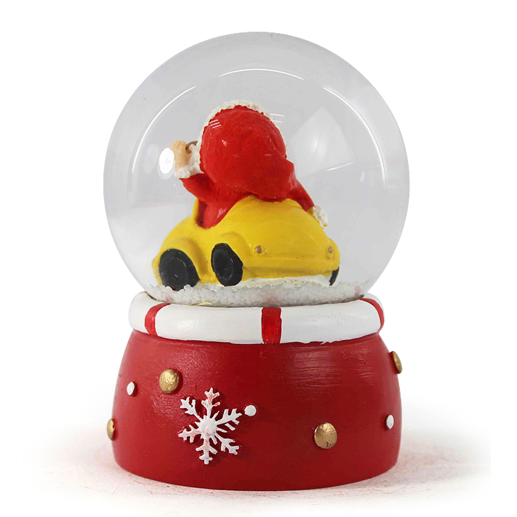 resin snow globe with led light