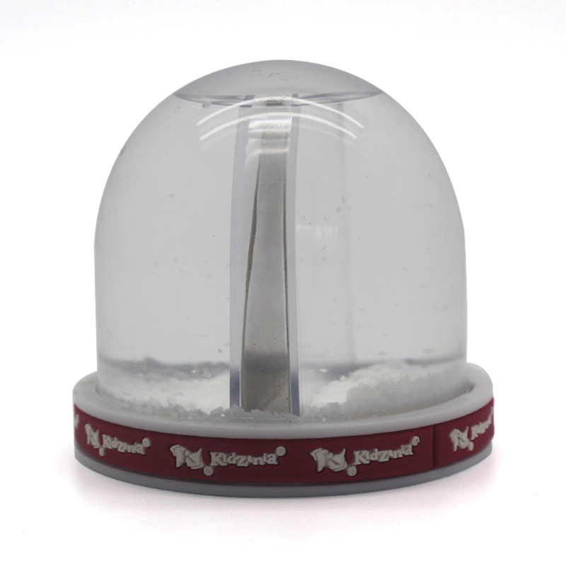 Resin custom cheap creative plastic photo frame snow globe with picture inside