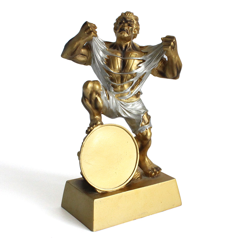 Resin cheap custom novelty art collectible sport award gifts grapple trophy