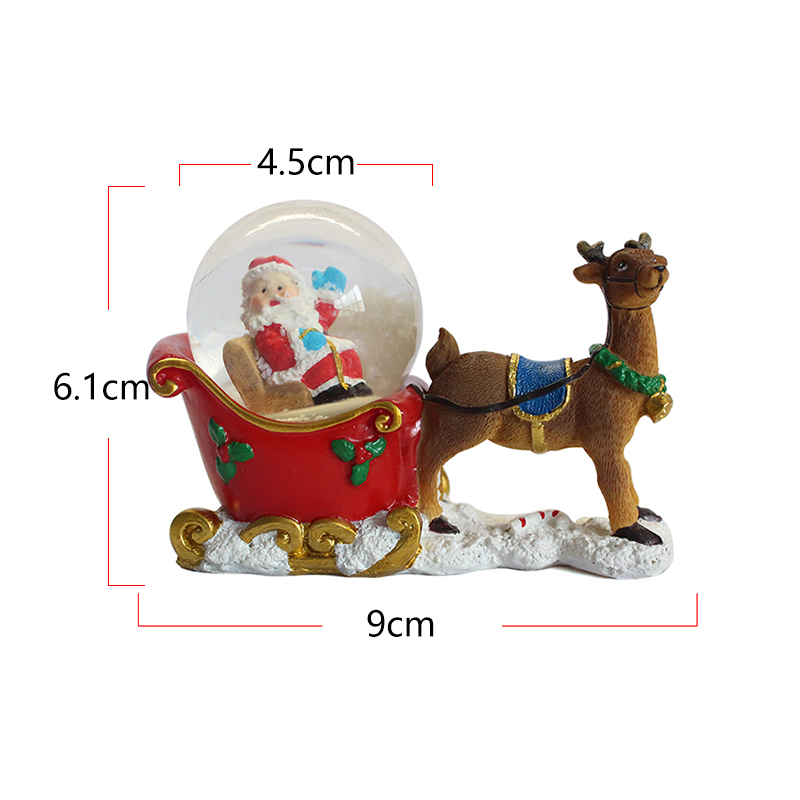 Resin custom personalized Santa Claus and Elk gifts Christmas snow globe for sale