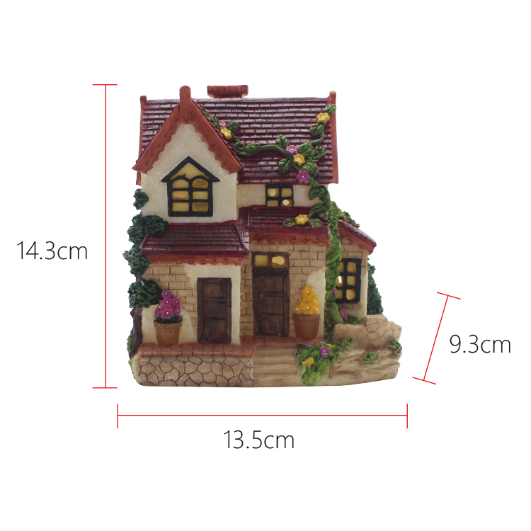 Factory direct home decor resin model miniature house