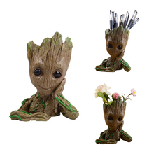 Custom Craft Tree Man Groot Flower Pot And Pen Holder