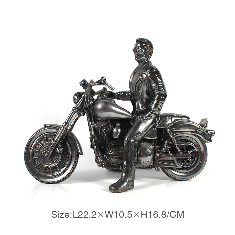 resin motorcycle Electroplated sculpture for sale