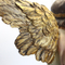 indoor resin angel figurines gold winged angel statue