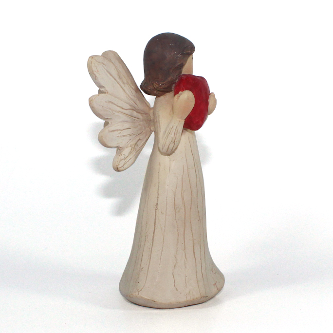 hot sale custom wooden resin angel sculpture