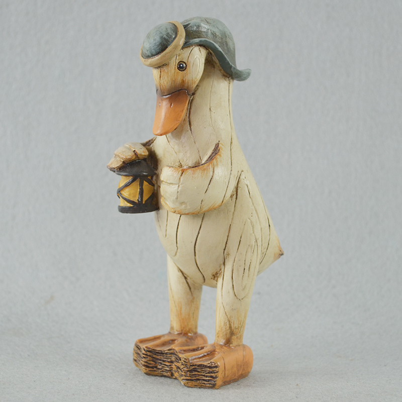 Artificial custom multi-type desktop decor gifts resin duck figurines for sale