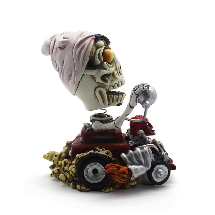 custom kids craft Halloween-skull figurine bobblehead bobble head for dashboard home decoration gifts