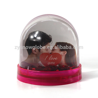 Plastic photo snow globe kit