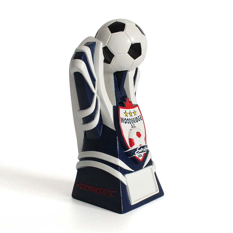 Resin custom cheap unique Woodbridge football sport award strikers trophy