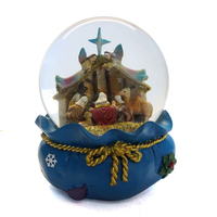 Religious catholic resin snow globe customized