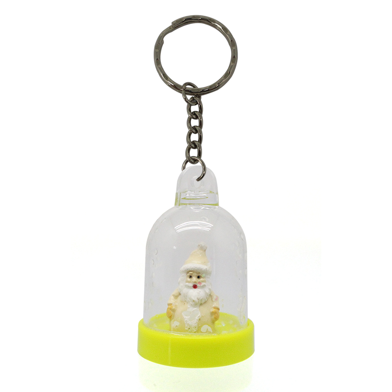 Custom Crystal Globe Personalized Cute Snowman Keychain For Girls