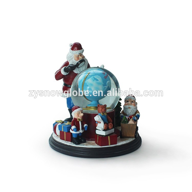 Santa Claus resin personalized snow globe