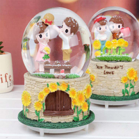custom resin snow globes baby souvenirs