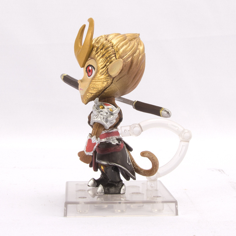 pvc collectible chinese fairy tale hero Sun Wukong rage monkey king figure