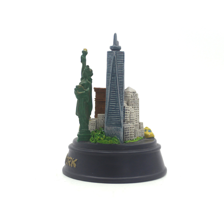 Resin custom souvenir gift USA new york city black base the Statue of Liberty