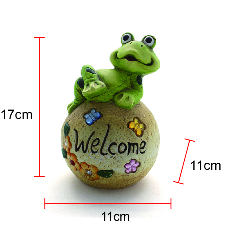 resin outdoor garden decoration welcome frog statues
