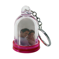 plastic innovative snow globe keychain