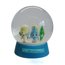 customized resin snow ball for mini aquarium scape