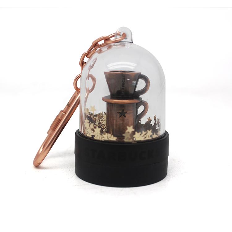 Great Gift Cheap OEM funny Wholesale mini snow globe Keychain