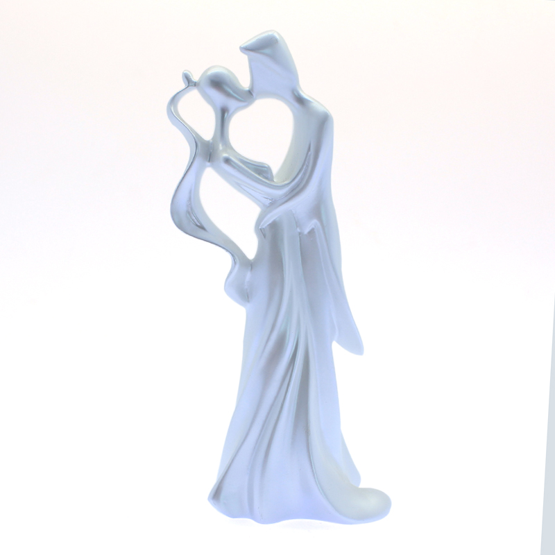 Resin Custom Cheap Love Wedding Decor Gifts Elegant Couple Kissing Figurines