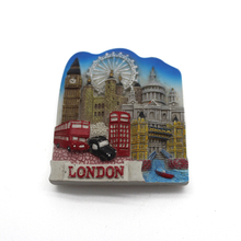 custom polyresin London souvenir gift letter fridge magnet