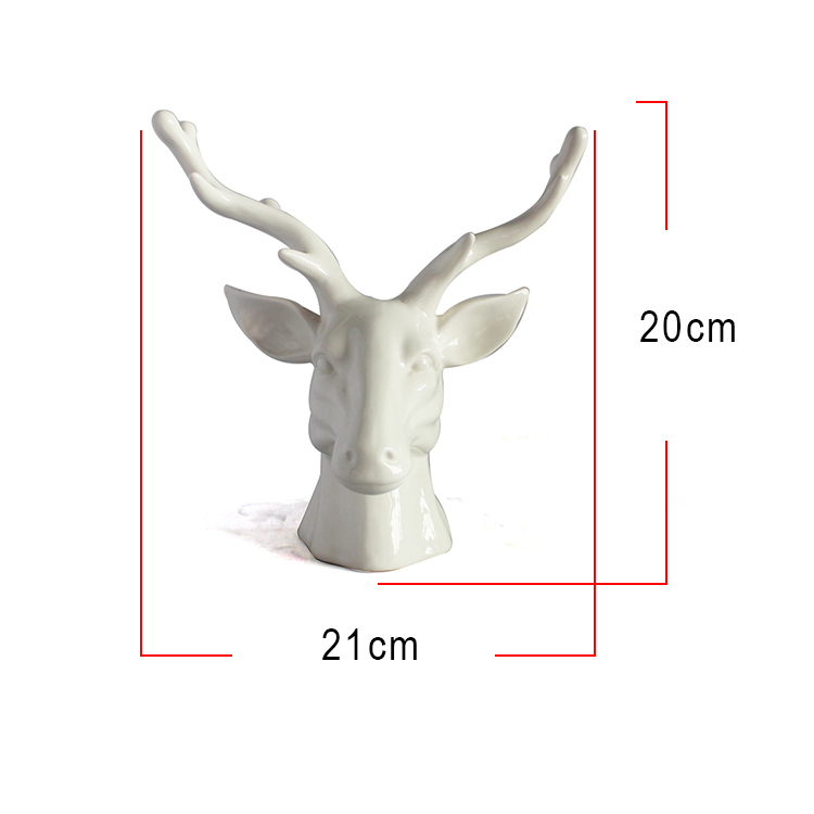 Resin custom wholesale animal home decoration art style white Elk statue for sale