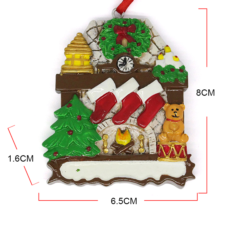 factory hanging cute mini resin christmas ornaments