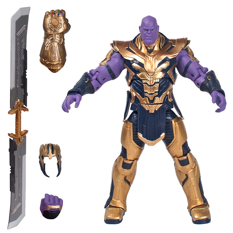 8 inch newest movie character statue SHF Avenge thanos action figure