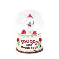 custom japanese animal personalizedl small christmas snoopy snow globe with music