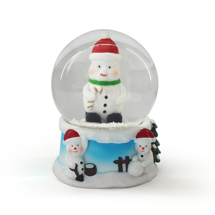 Water snow globes with flake snow inside